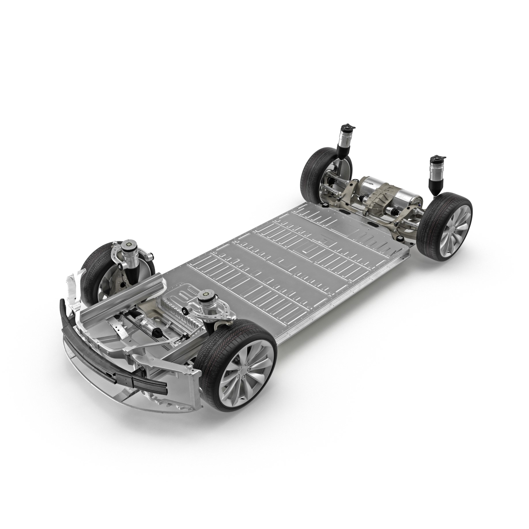 DC Electric Car Chassis With Battery